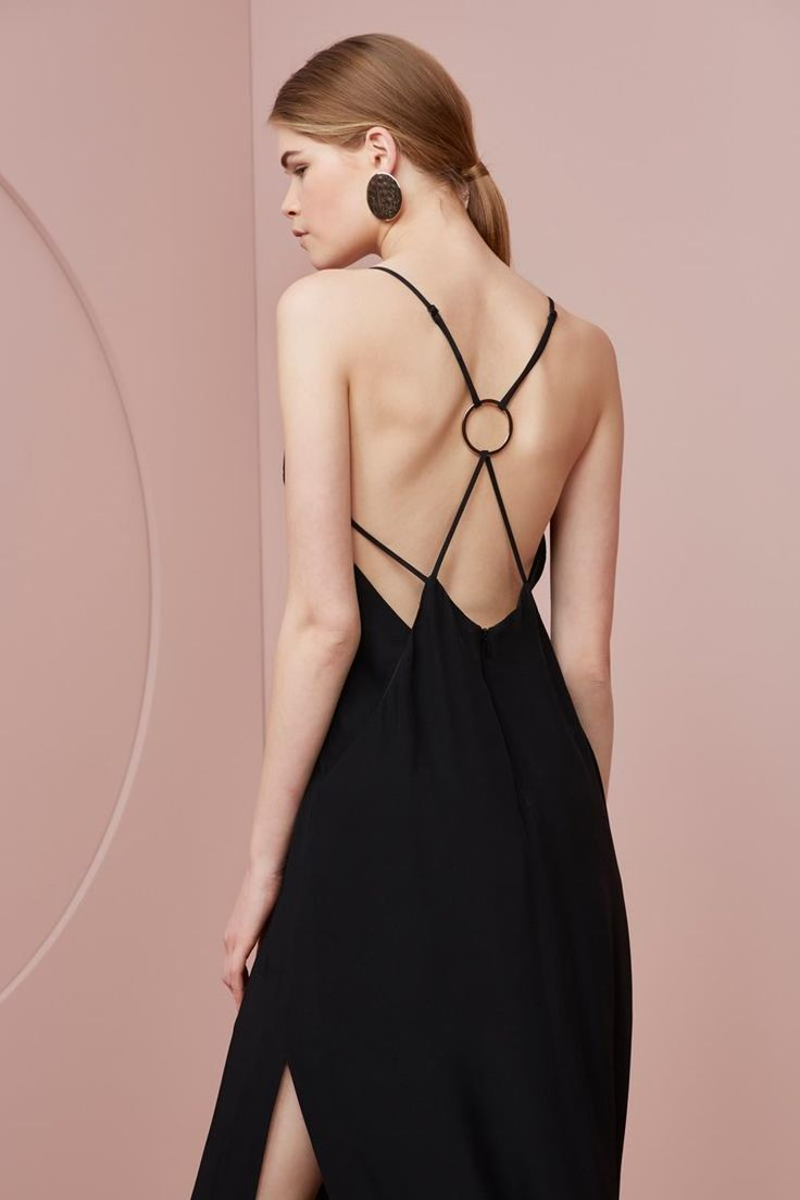 Keepsake Two Minds Maxi Dress Black