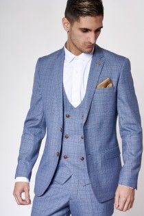 Check Print Three Piece Suit by Marc Darcy