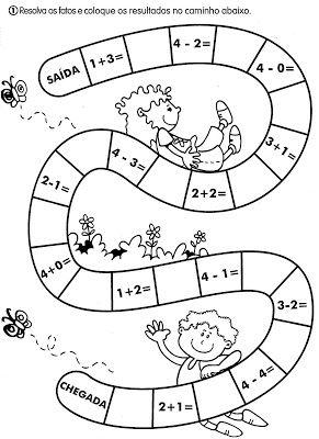 Nosso Espaço Educando: Atividades de matemática para o 1º ano.