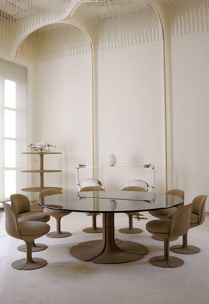 """la salle à manger aménagée à l' Elysée pour le président Pompidou dans les années """" 60 """""""