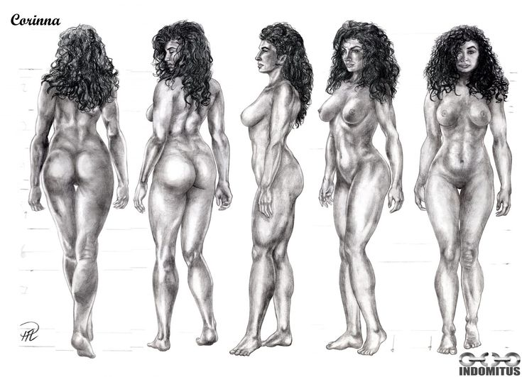 Studies of Corinna sketch, figure inspired by Samantha Dorman. See www.indomitus.blog