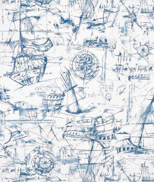 Premier Prints Schooner Nautical Fabric  $7.45  per yard (1 to 9 yards)