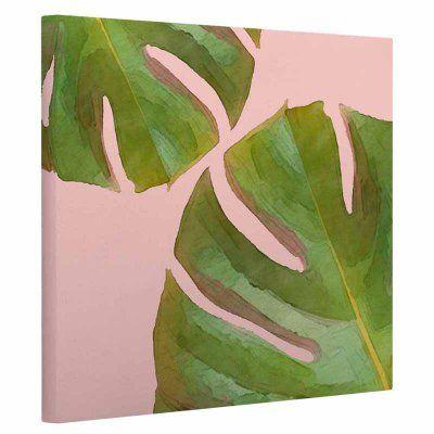 KESS InHouse Oriana Cordero Tropico V3 pink Green Canvas Art - OC1071AAC05