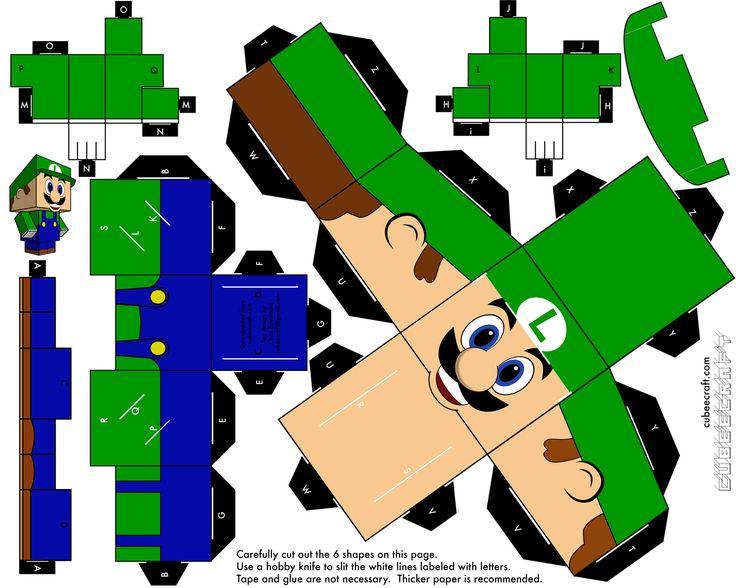 Faça você mesmo: Paper Toy Mário Bross