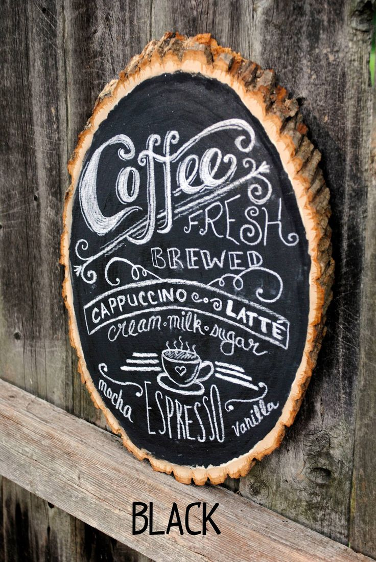 Rustic Chalkboard Coffee Bar Sign