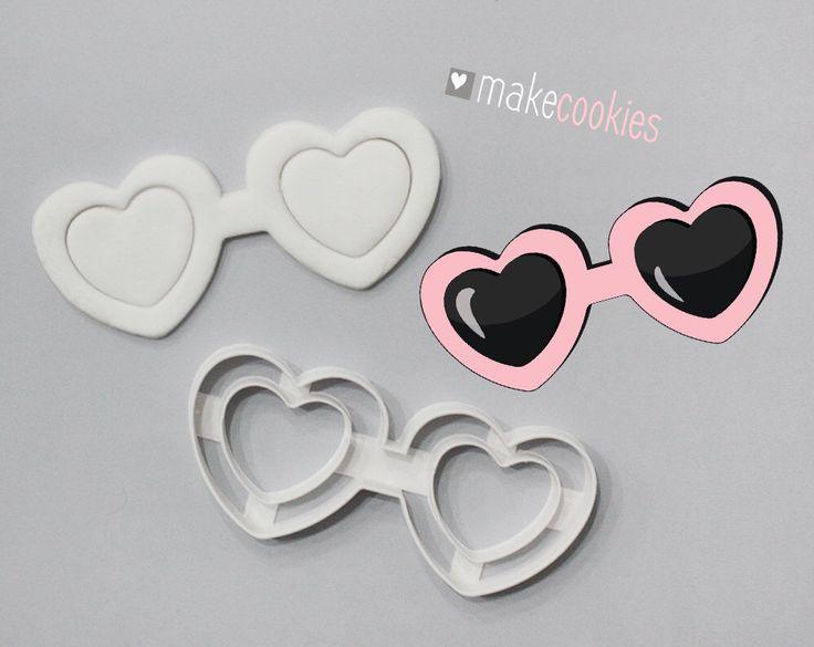 Heart shaped sunglasses  Etsy shop https://www.etsy.com/listing/502800907/heart-shaped-sunglasses-cookie-cutter