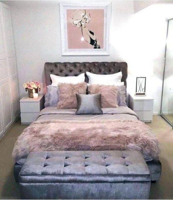 Cutest Teenage Girl Bedroom Decoration Ideas 15 in 2020 ... on Teenage Grey Small Bedroom Ideas  id=85402