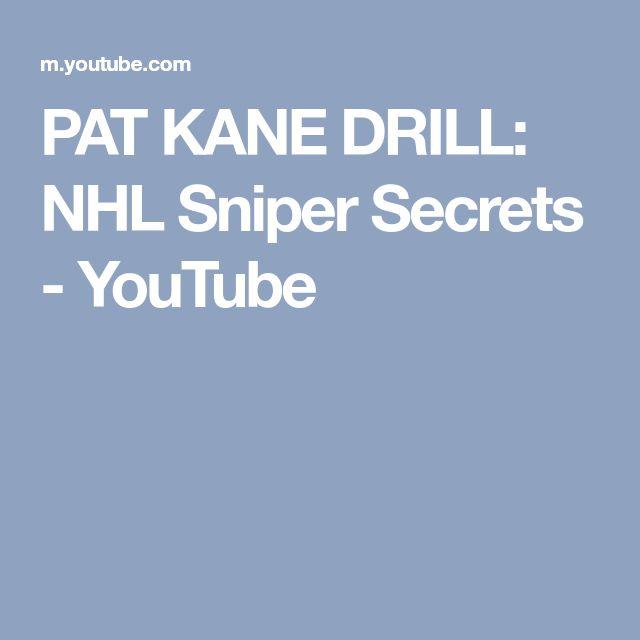 PAT KANE DRILL: NHL Sniper Secrets - YouTube