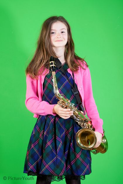 Child portrait with saxphone.  #custom photography  PictureYouth.com