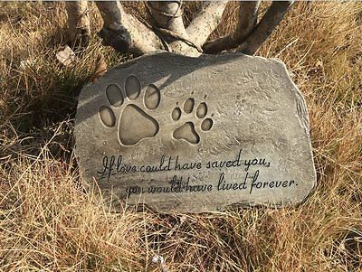 Pet Memorial Stone For Cat Dog Grave Headstone Animal Memorials Stones Outdoor