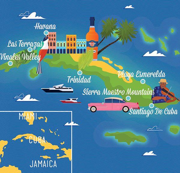Best 25 cuba on world map ideas on pinterest map cuba map of james boast map of cuba sciox Choice Image