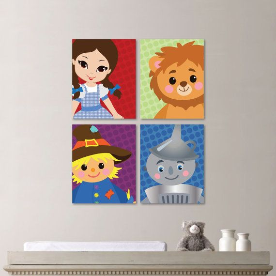 Baby Girl Nursery Art Wizard of Oz Nursery by RhondavousDesigns2, $30.00