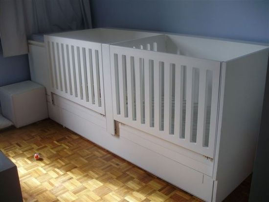 I wants something like this for my twins. My new house has only one bedroom so I am gutting my closet and putting the cribs in there. This crib design is something I am considering to use. Love it!!
