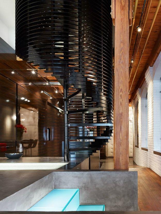Statement loft staircase