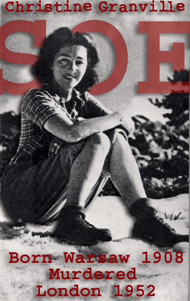 Christine Granville SOE - go to www.bletchleyparkresearch.co.uk/research-notes/christine-granville to read an extract from the 1st Chapter of Ron Nowicki's forthcoming book, The Elusive Madame G.