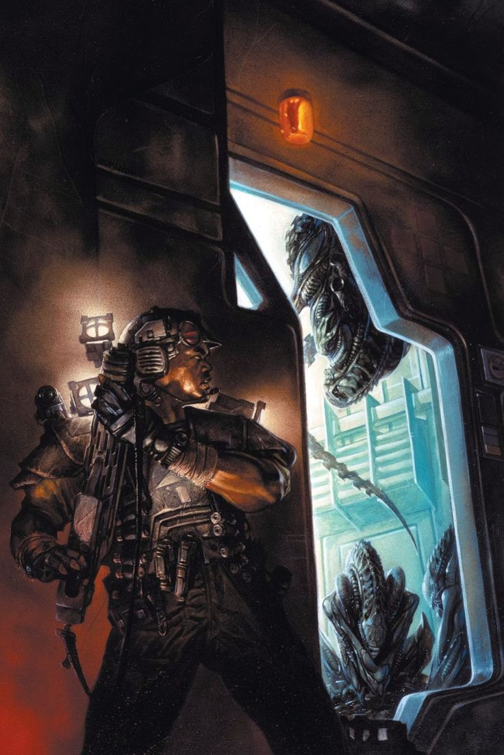 Amazing cover art for #Aliens Colonial Marines comic by Dave Dorman  #WeylandYutani