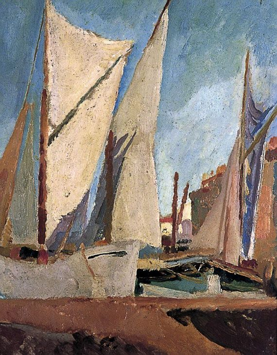 'The Harbour, St. Tropez' (1921) by Vanessa Bell