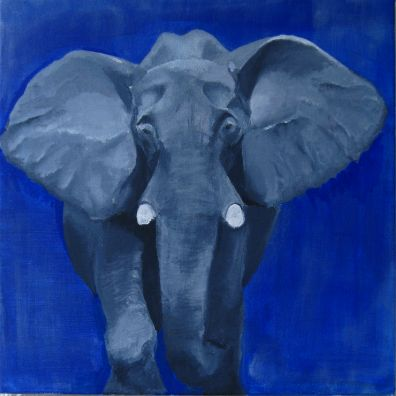 original acrylic painting - elephant