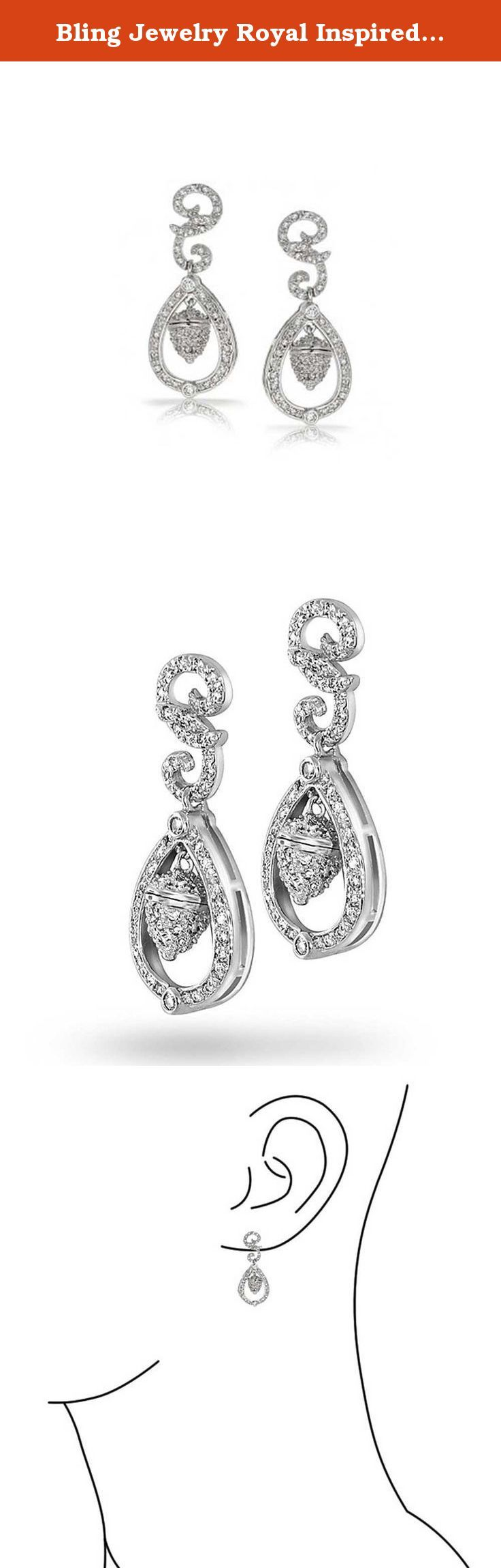 Bling Jewelry Royal Inspired Royal Wedding Acorn CZ Earrings Rhodium Plated. For her much anticipated wedding day, Royal received a magnificent pair of chandelier earrings featuring tiny shimmering acorns as a present from her parents. The acorns are a symbol of England and of strength and they represent the younger Royals. Inspired by Royals decadent earrings, our Rhodium Plated Brass Royal Inspired Royal Wedding Acorn CZ Earrings will leave you looking like royalty. Featuring glamorous…