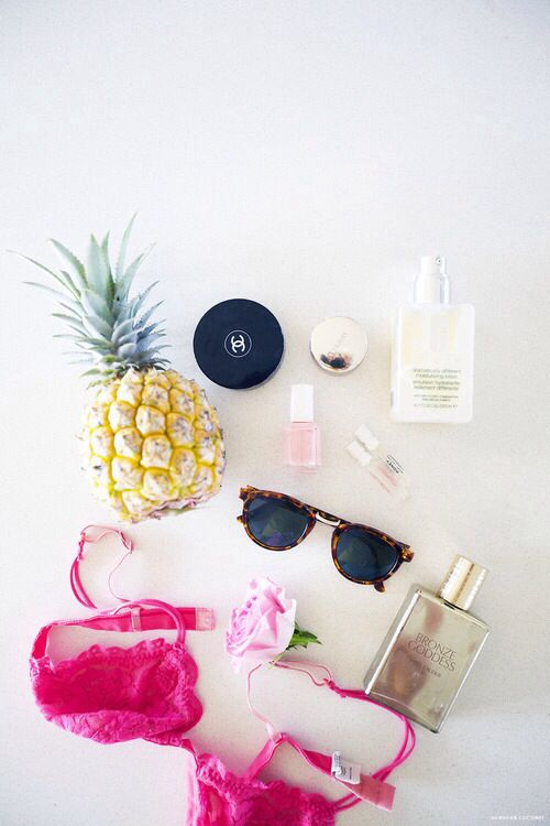 Summer bikini ananas sunglasses sunscreen sun swimming beach water sea pool fun happy