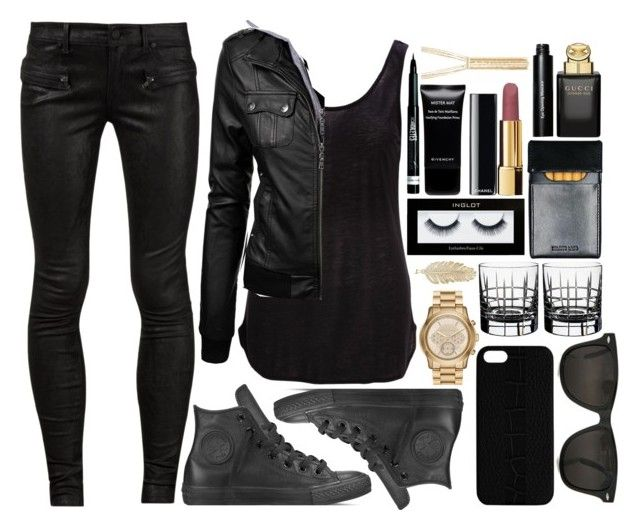 """Rage against the dying of the light// G-Eazy"" by im-so-west-coast ❤ liked on Polyvore featuring RtA, SELECTED, Converse, MICHAEL Michael Kors, Lauxes, Orrefors, Maison Takuya, Inglot, Chanel and Givenchy"