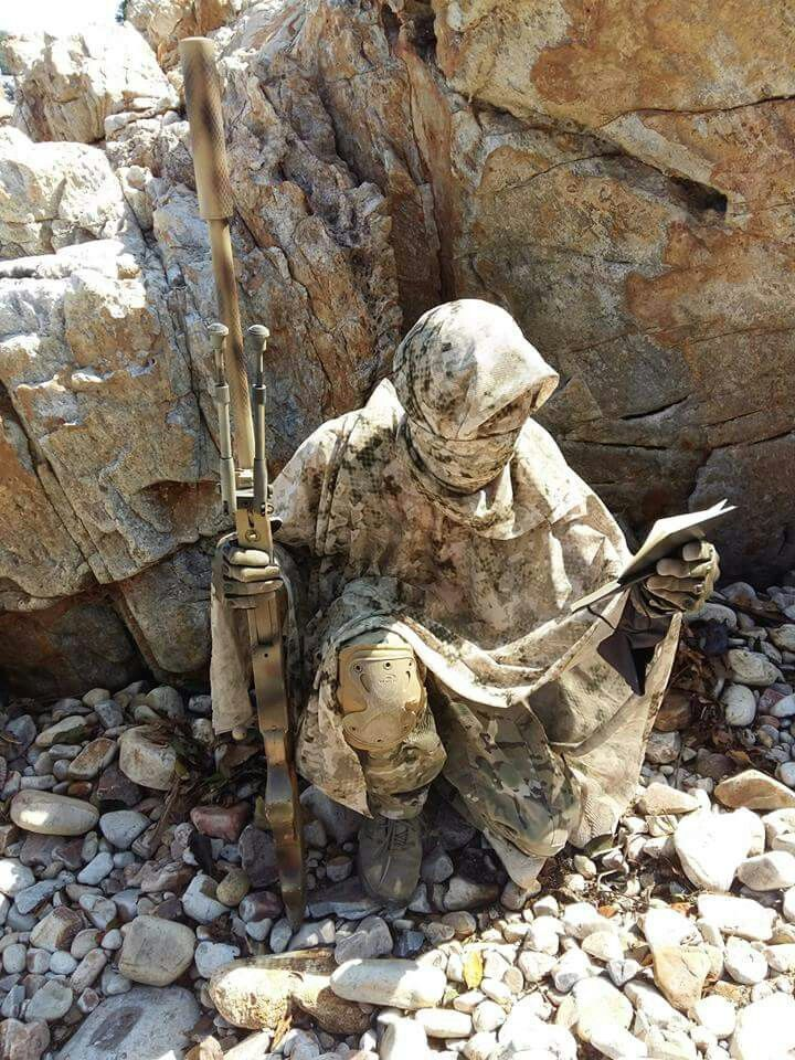 Sniper... Now that is incredible camouflage