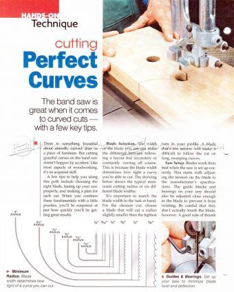 #2532 Cutting Curves on Bandsaw - Band Saw