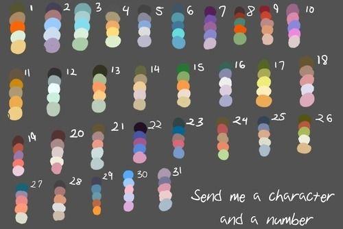 Color Palette Challenge Tumblr Drawing Challenge