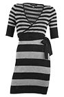 Fairweather - Striped Wrap Dress with Tie