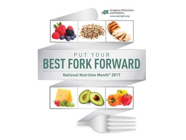 """March is National Nutrition Month. """"Put Your Best Fork Forward"""" and start gradually shifting towards a healthier eating style.    http://qoo.ly/d2842"""