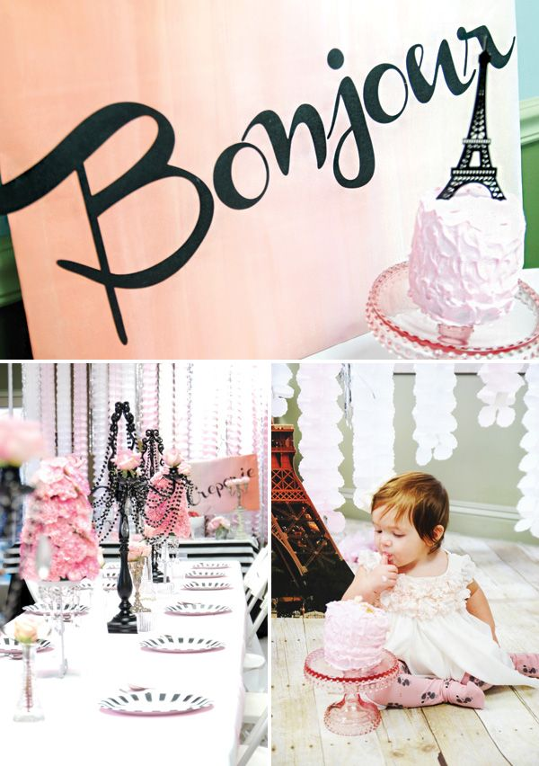 Vintage & Girly Parisian First Birthday Soirée - http://blog.hwtm.com