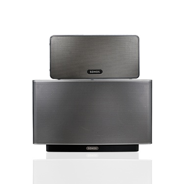 Sonos sound system - The PLAY:3 pictured atop a PLAY:5. Find out about deals near you for Cyber Monday:  #testsonos http://www.sonos.com/promo
