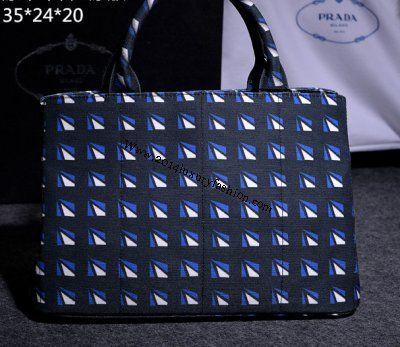 2014 Cheap Prada PRINT HEMP FABRIC BAG cornflower blue | Cheap ... - Prada tote cornflower blue