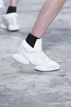 Rick Owens Menswear Spring Summer 2014 Paris.  Are those supposed to be suction cups or what?