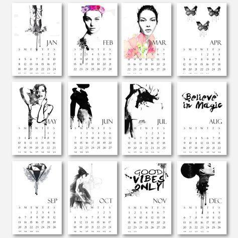2015 Printable calendar 2015, calendar printable, monthly calendar, calendar download, 2015 calendar, diy calendar, christmas printable, gift via The prints world. Click on the image to see more!