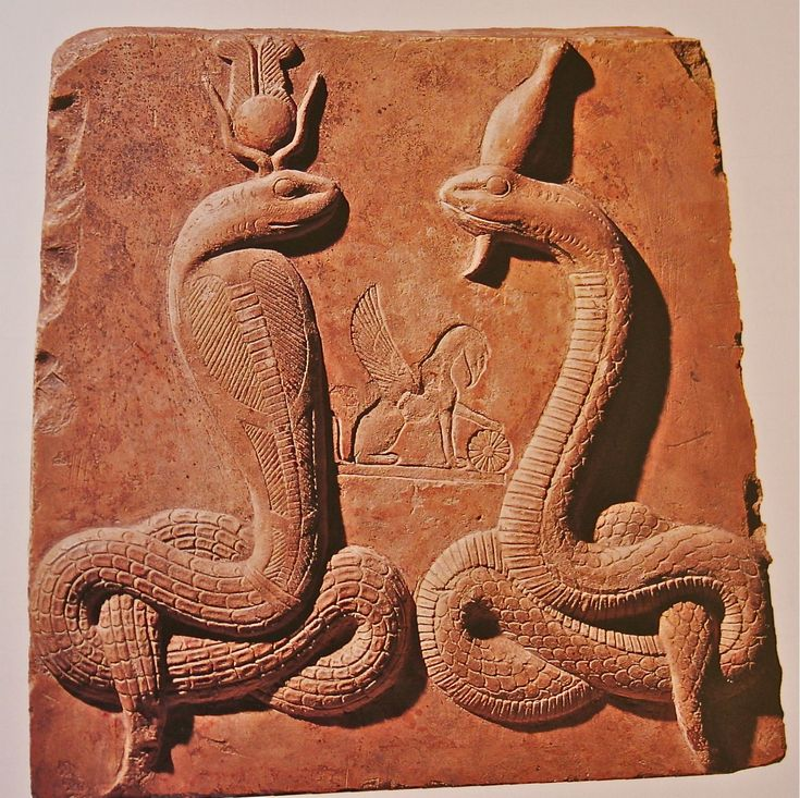 Legend of Isis and Osiris | Isis as Agathe Tyche and Osiris as Agathos Daimon, both in serpent ...
