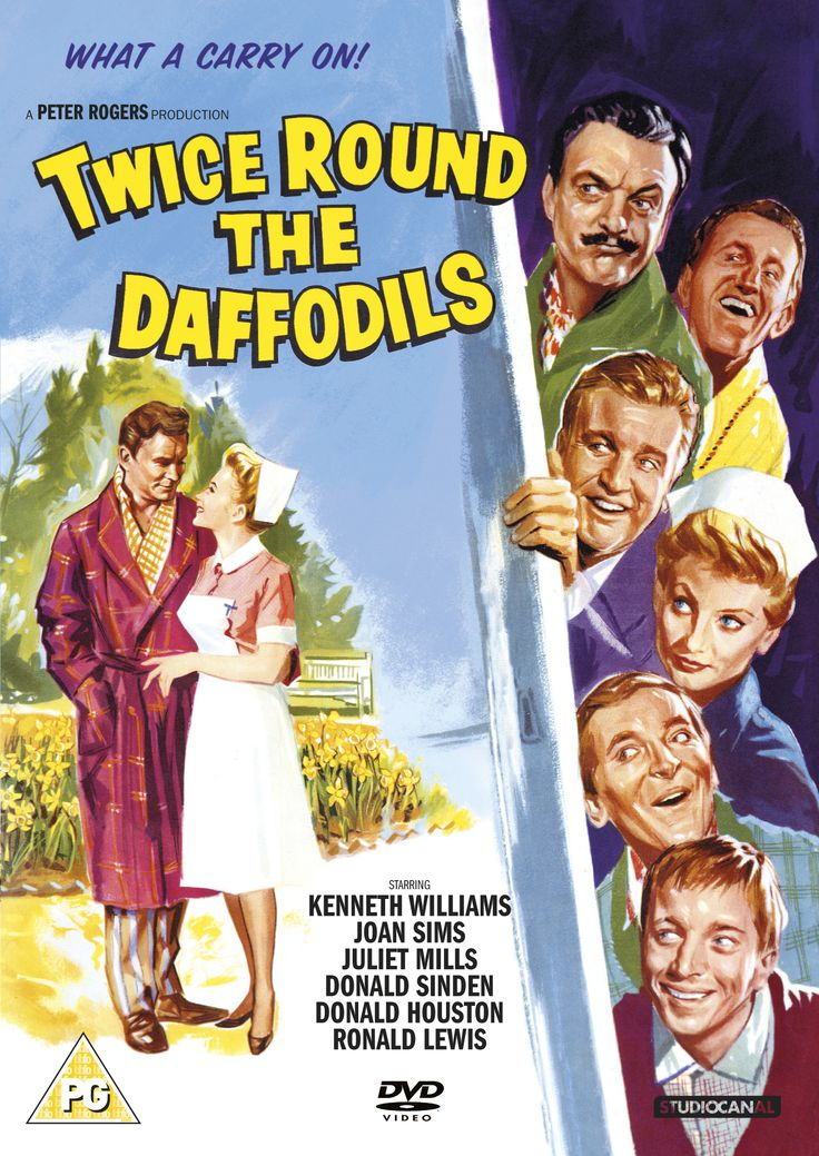 Twice Round the Daffodils (1962) Stars: Juliet Mills, Donald Sinden, Donald Houston, Kenneth Williams, Ronald Lewis, Joan Sims, Jill Ireland, Sheila Hancock ~  Director: Gerald Thomas