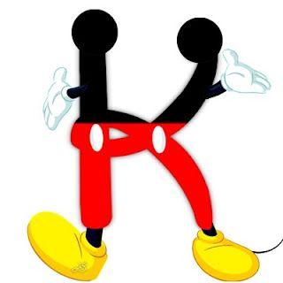 ATELIER ALEGRIA DAS CORES : Boa noite meninas. Olhem que lindo esse alfabeto do Mickey! Podem copiar a vontade.