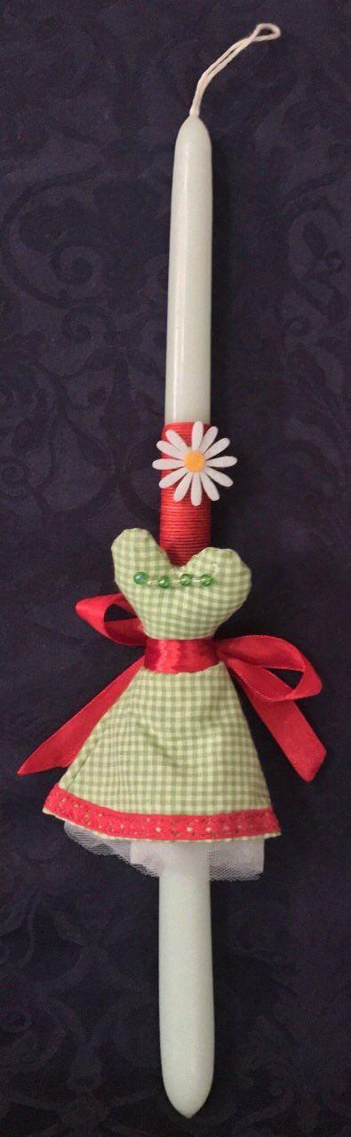 Miss Green. Handmade Easter Candle by Glykeria @Mother&Daughter
