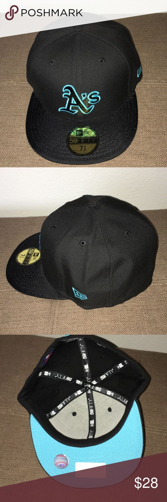 A's Men's Fitted Baseball Cap Brand New A's Men's Fitted Baseball Cap Brand New. Size 7 3/8 New Era Other