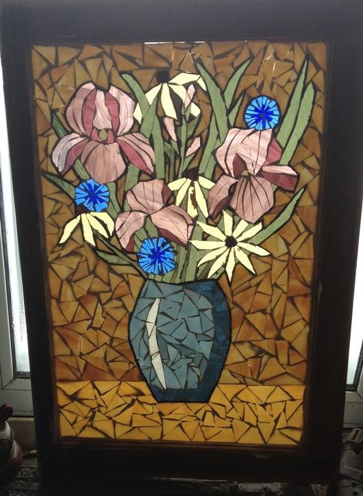 Stained Glass Patterns Flower Vase