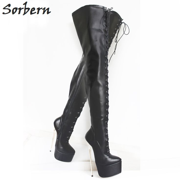 Sexy Fetish Dance Nightclub Boots 30CM Extreme High Heel