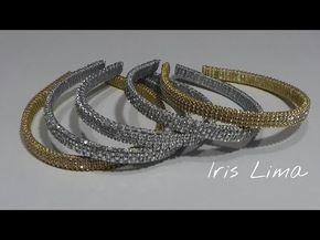Como fazer arco com coroa em pé com manta de strass Diy ,Tutorial , Pap , By Iris Lima - YouTube