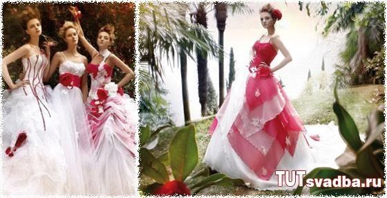 Платье белое с красными маками