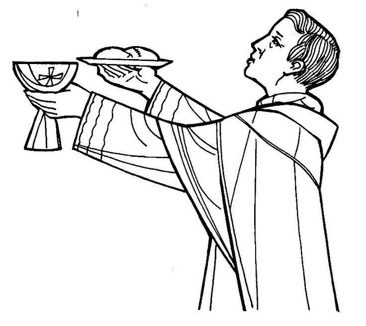 priest coloring page - Coloring Pages Catholic Sacraments