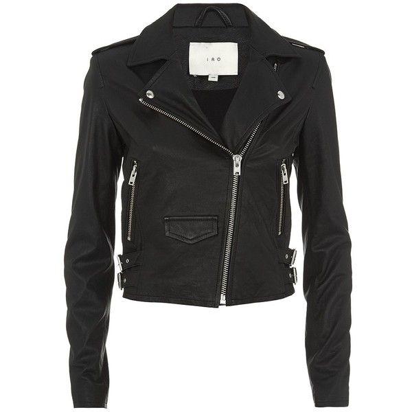IRO Ashville Leather Biker Jacket found on Polyvore