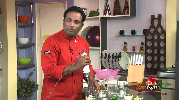 Mint and Green Chilli Drink - VahRehVah Hindi Recipes