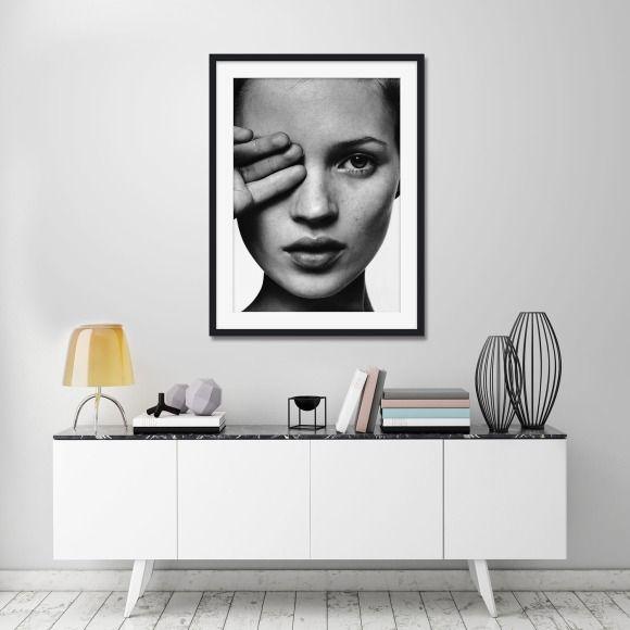 Kate moss bw scandi style art print