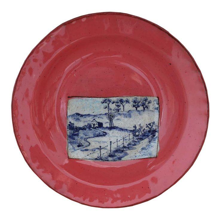 An original ceramic work by Lisa Ringwood entitled: 'Karoo Plate X', ceramic, d 24cm For more please visit www.finearts.co.za #ceramic #LisaRingwood #Ceramicist #SouthAfricanArt #SouthAfricanArtist #ChineseCeramics #InteriorDesign #Decor #Decoration #Landscape #Fauna #Flora #Birdlife #VOCware #Karoo