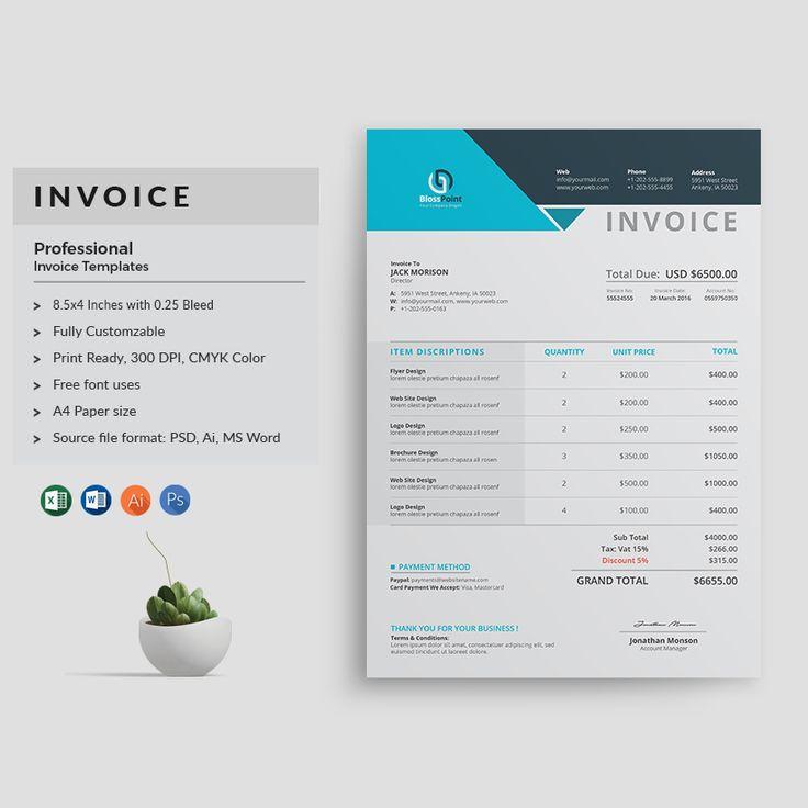 The 25+ best Invoice template ideas on Pinterest Invoice design - invoice logo
